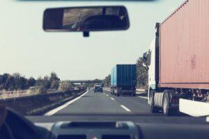 highway, crash barriers, vehicles