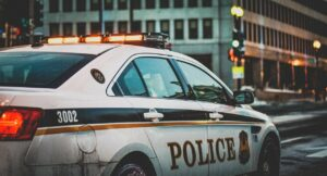 squad car, police, lights