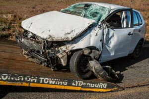car accident, damage, crash