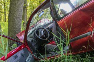 accident, crash, tree