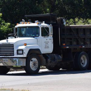 dump truck, construction, demolition