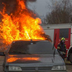 flame, fire, car fire